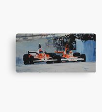 Niki Lauda vs James Hunt  Canvas Print