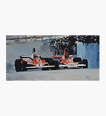 Niki Lauda vs James Hunt  Photographic Print