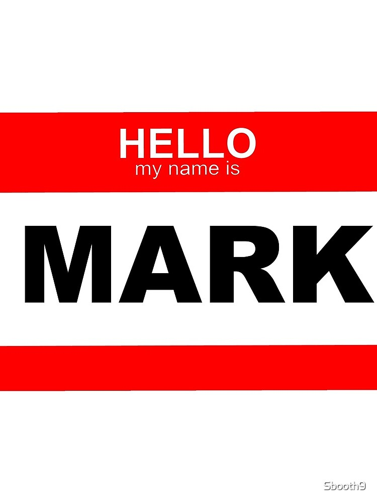 Quot Hello My Name Is Mark Quot Mini Skirt By Sbooth9 Redbubble