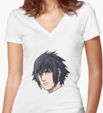 Noctis  Women's Fitted V-Neck T-Shirt