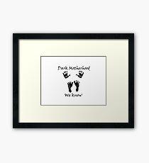 black Dark Motherhood Framed Print