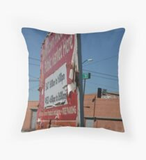 Billboard Throw Pillow