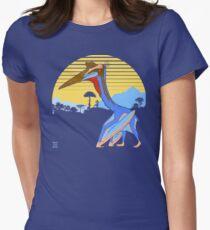 Pterosaur Sunset (Dark Version) Women's Fitted T-Shirt