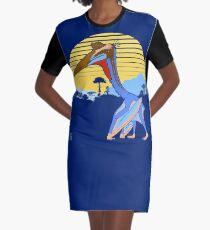 Pterosaur Sunset (Dark Version) Graphic T-Shirt Dress