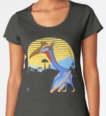 Pterosaur Sunset (Dark Version) Women's Premium T-Shirt