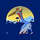 Pterosaur Sunset (Dark Version) by Raven Amos
