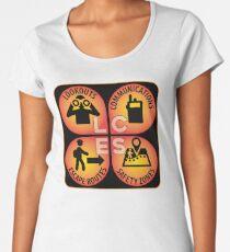 LCES: Lookouts, Communications, Escape Routes, Safety Zones Women's Premium T-Shirt