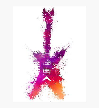Purple Guitar Photographic Print
