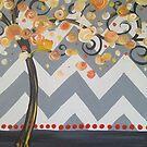 Chevron Swirl Tree by Melissa Fryer