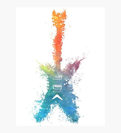 Colored guitar Photographic Print