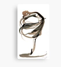 Ballet Dance Drawing Canvas Print