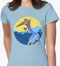 Pterosaur Sunset (Light Version) Women's Fitted T-Shirt