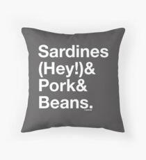 Sardines & Pork & Beans Throw Pillow