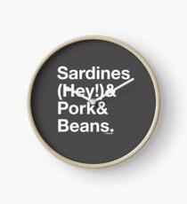 Sardines & Pork & Beans Clock