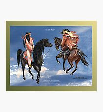 KARL MAY ~ Winnetou and Old Firehand by tasmanianartist for Karl May Friends Photographic Print