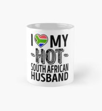 I Love My HOT South African Husband - Cute South Africa Couples Romantic Love T-Shirts & Stickers Mug