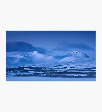 Cold Mountains of Night Photographic Print