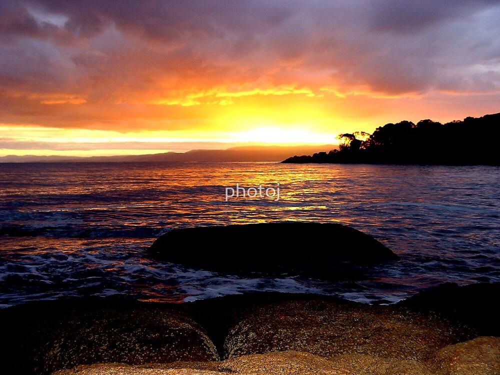photoj Tas, East Coast, Sunset  by photoj