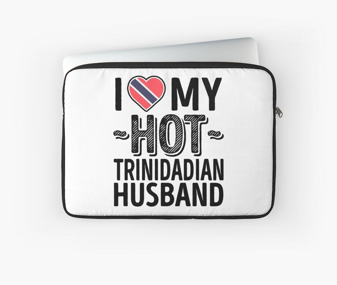 I love my hot trinidadian husband cute trinidad and tobago couples romantic love t shirts stickers