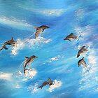 Danc'n Dolphins by WhiteDove Studio kj gordon