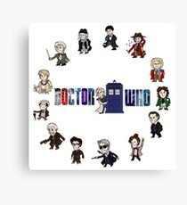 Doctor Who: All Fourteen! Canvas Print