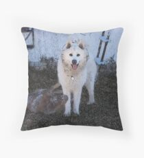 Dogs at Play Throw Pillow