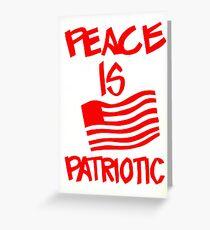 """""""Peace is Patriotic"""" UC Berkeley, 1972 Greeting Card"""