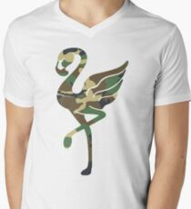 Camouflage Flamingo Men's V-Neck T-Shirt