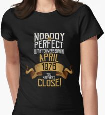 1976 April Birthday Gift -42 Year Old BDay Women's Fitted T-Shirt
