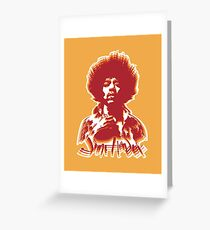 Jimi Hendrix Illustration Greeting Card