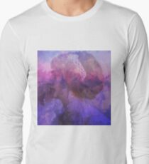 abstract violet vintage lady Long Sleeve T-Shirt
