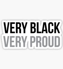 Sehr schwarz sehr stolz | Afroamerikaner | Black Power Sticker