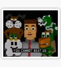 YOU CANNOT BEAT US Sticker