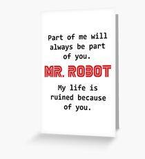 mr robot Greeting Card