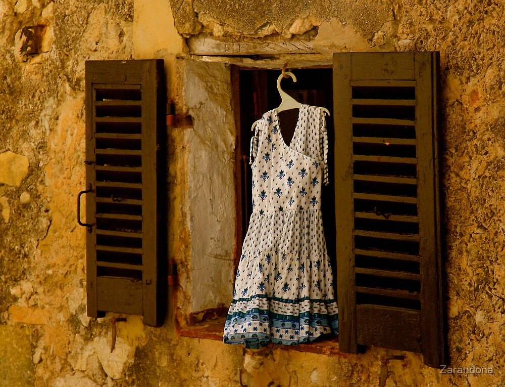 Dress in Window by Zarandona
