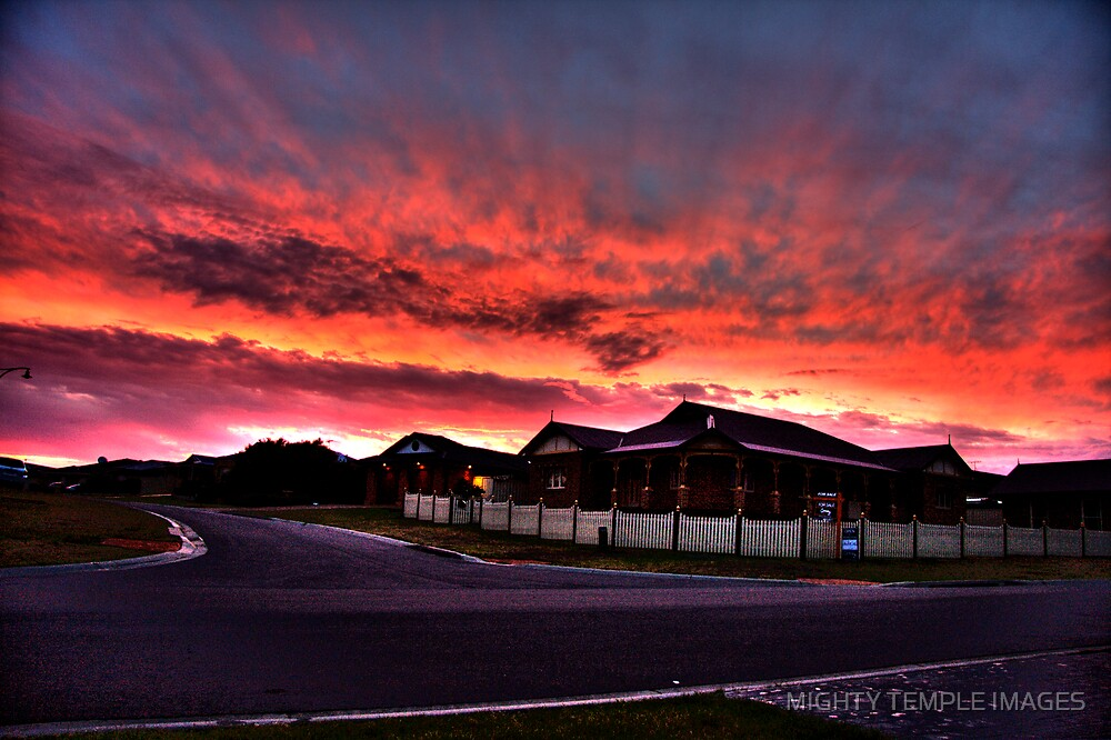 SUNSET OVER SUBURBIA by MIGHTY TEMPLE IMAGES