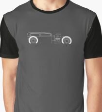 1932 Ford Model A Ratrod - profile stencil, white Graphic T-Shirt