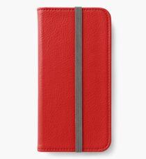 Valentinsgrüße rot iPhone Flip-Case/Hülle/Klebefolie