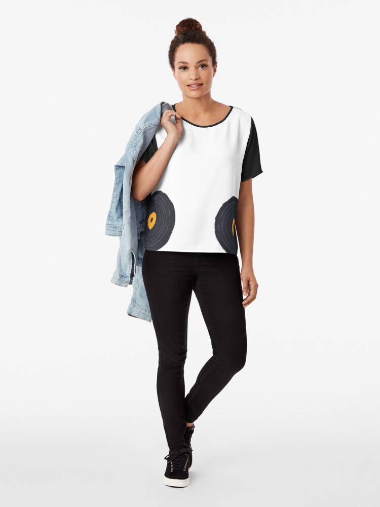 Alternate view of Vinly Collection Tshirts Chiffon Top