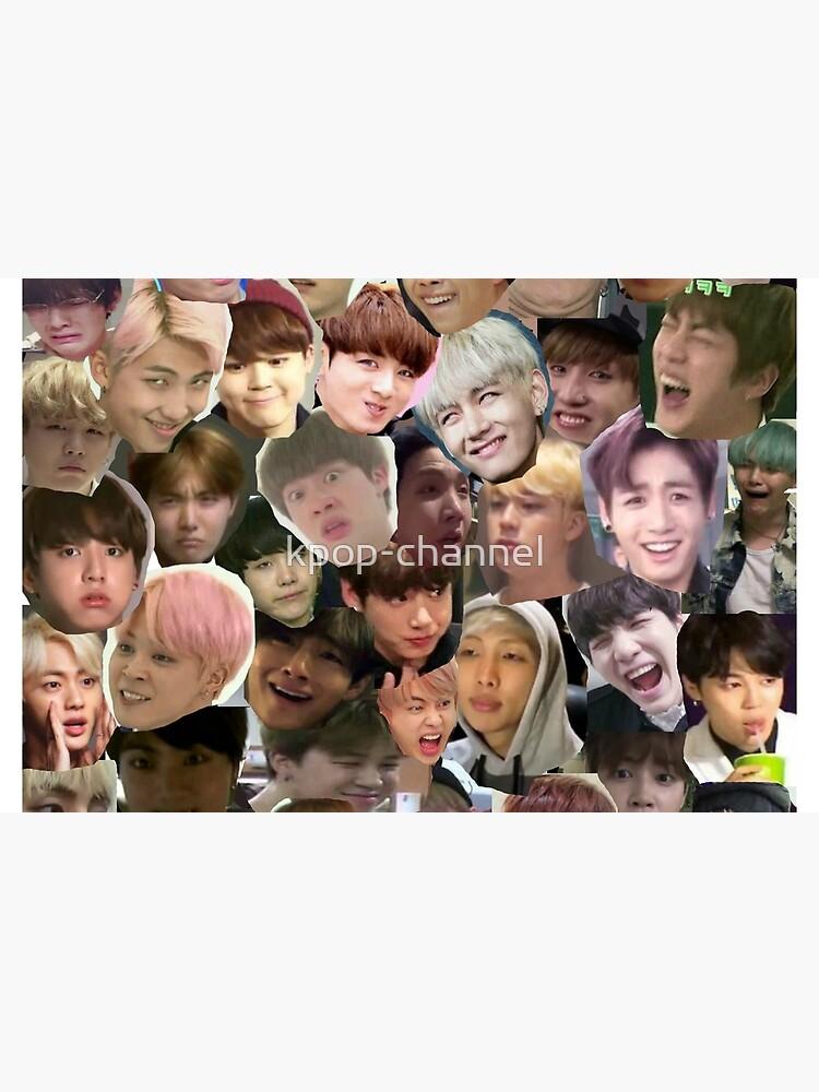 BTS - MEME FACE COLLAGE von kpop-channel