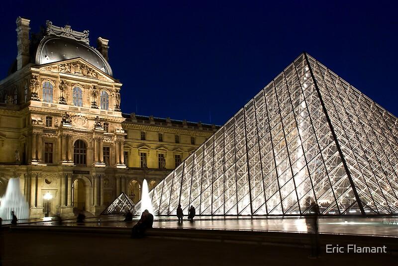 Quot Le Louvre Quot Posters By Eric Flamant Redbubble