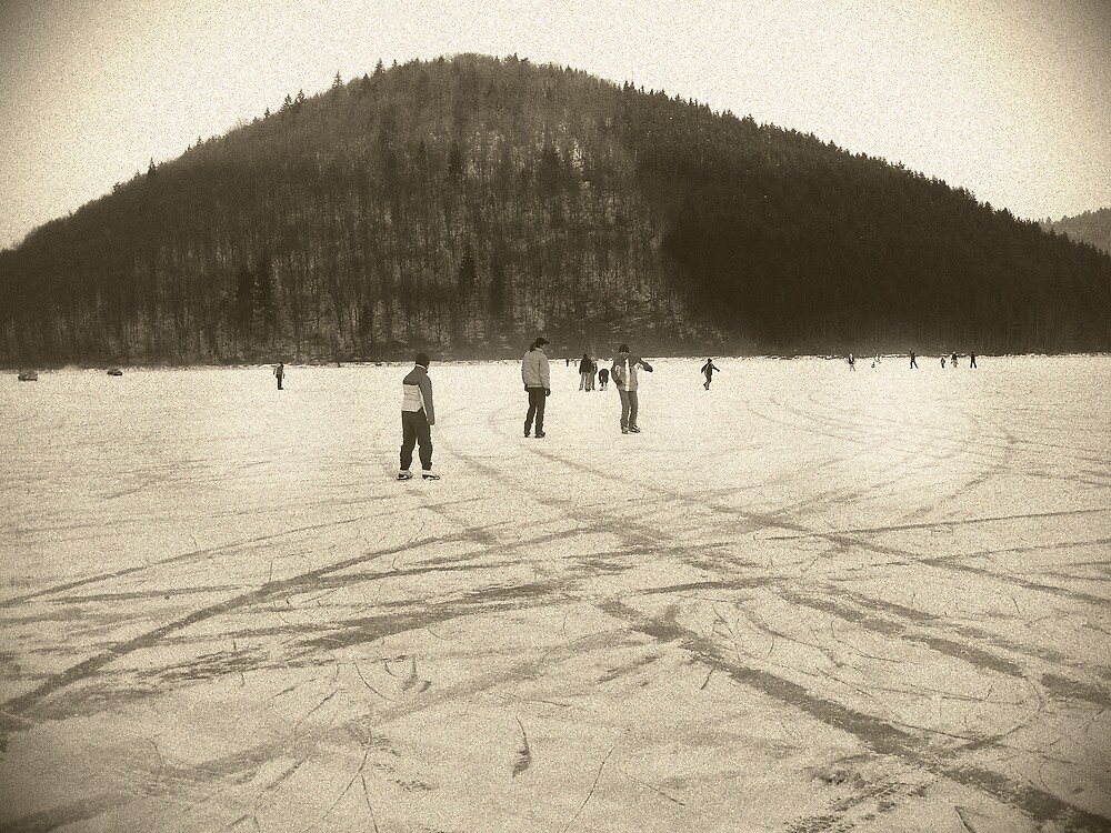 wintertime...in the lake by Rita Iszlai