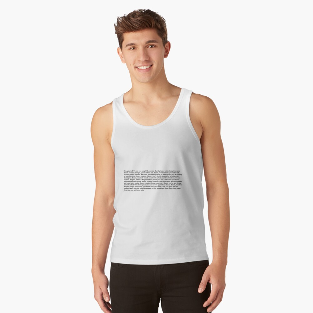 the office boom roasted Tank Top