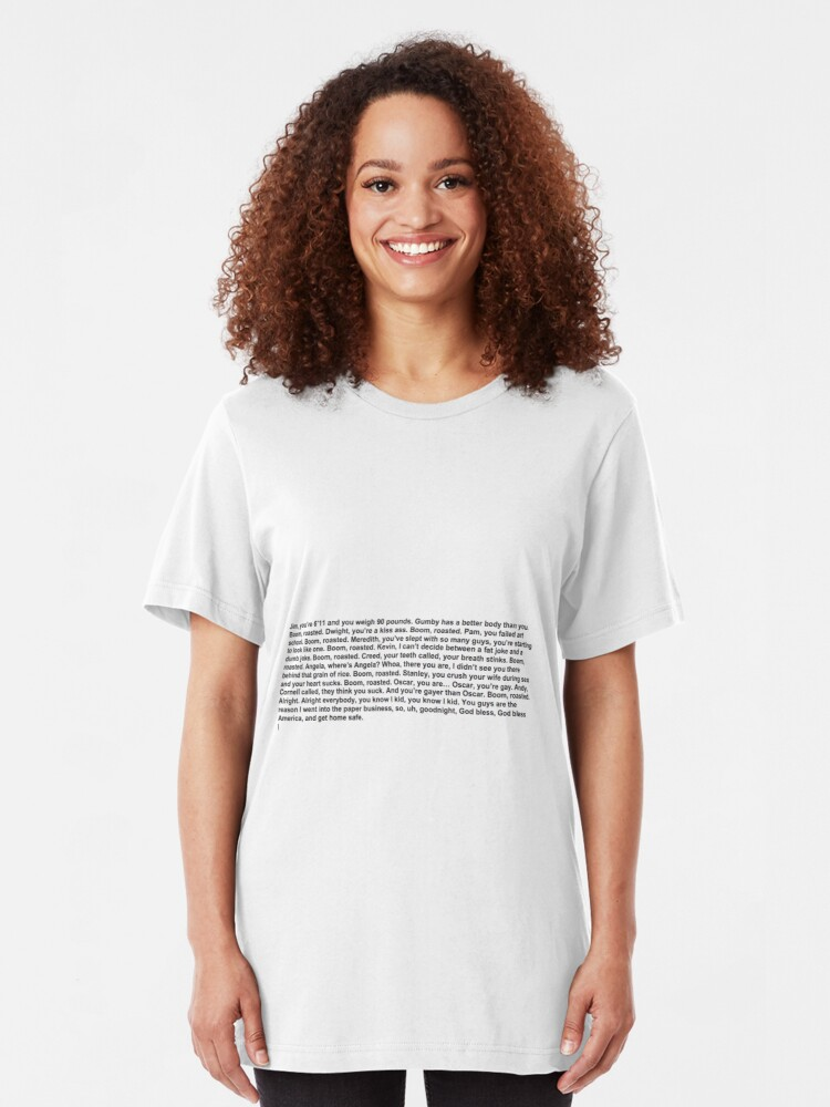 Alternate view of the office boom roasted Slim Fit T-Shirt