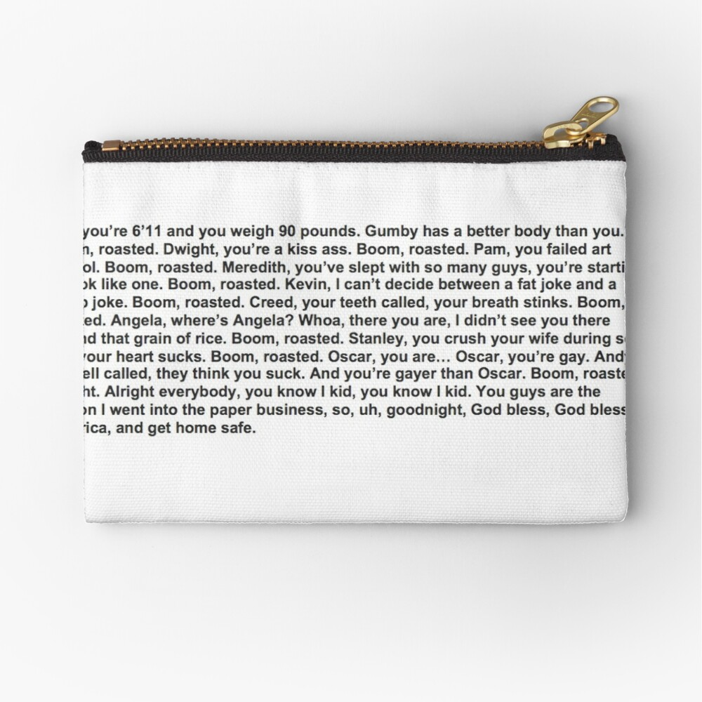 the office boom roasted Zipper Pouch