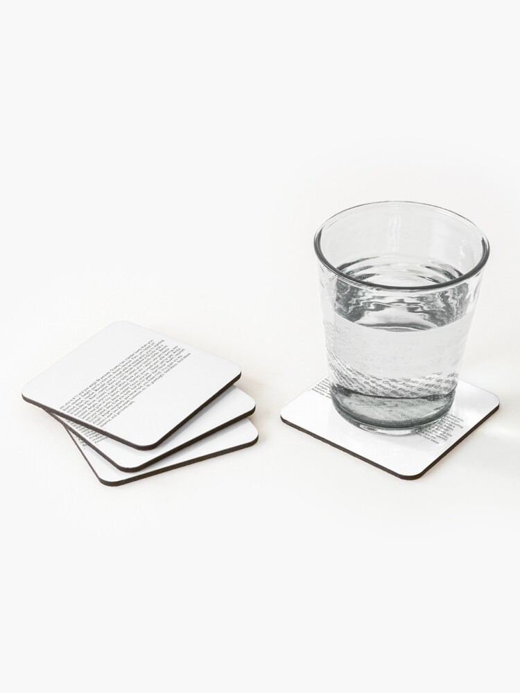 Alternate view of the office boom roasted Coasters (Set of 4)