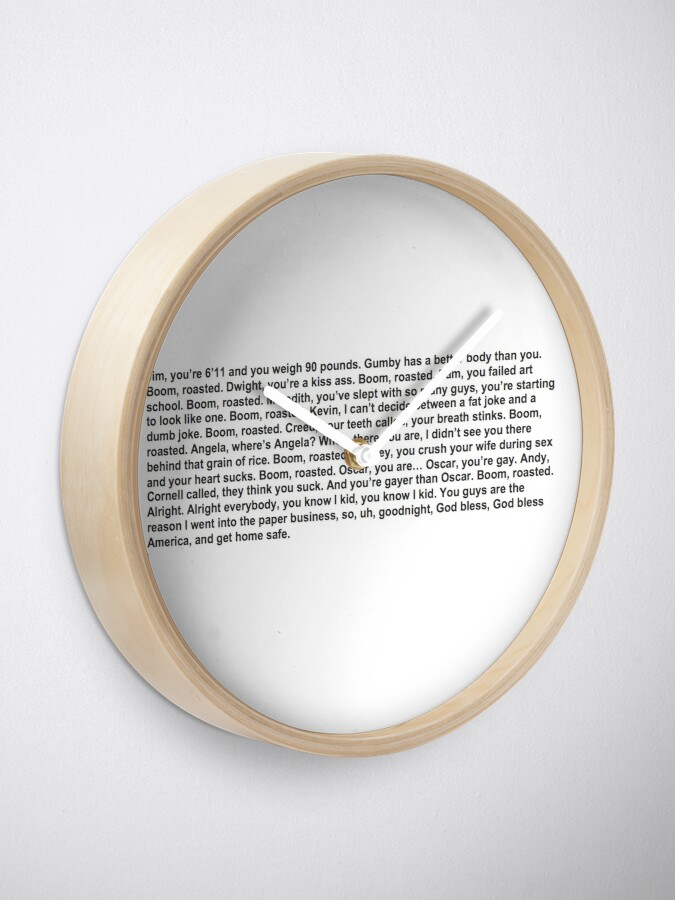 Alternate view of the office boom roasted Clock