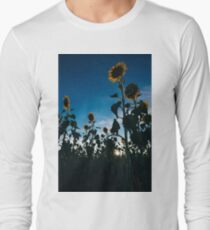 Sunflowers in a field in the afternoon. Long Sleeve T-Shirt