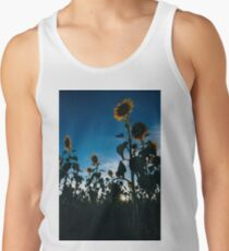 Sunflowers in a field in the afternoon. Tank Top