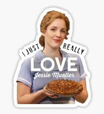 I just really love Jessie Mueller Sticker